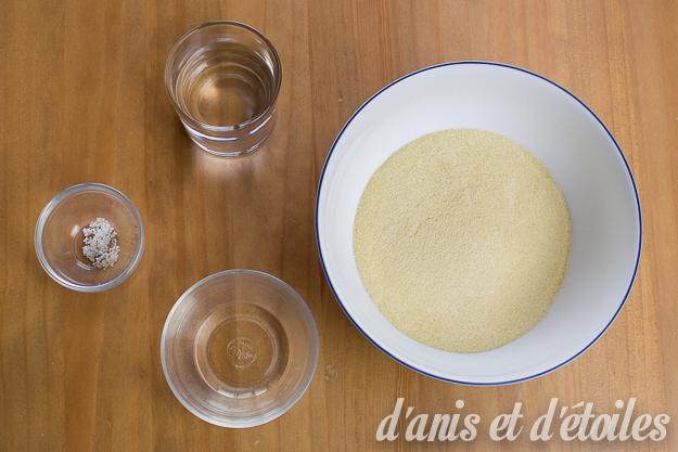 Ingrédients pour pâtes fraîches