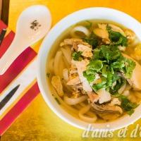 Bánh canh gà - Soupe de nouilles au poulet