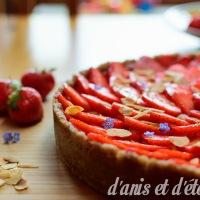 Tarte aux fraises sans gluten, vegan et sans cuisson